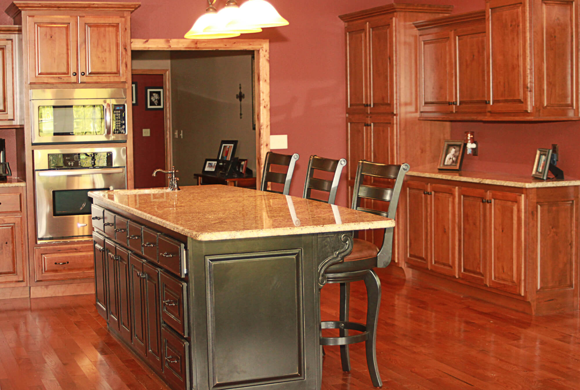 rustic cherry kitchen cabinets - Cherry Kitchen Cabinets