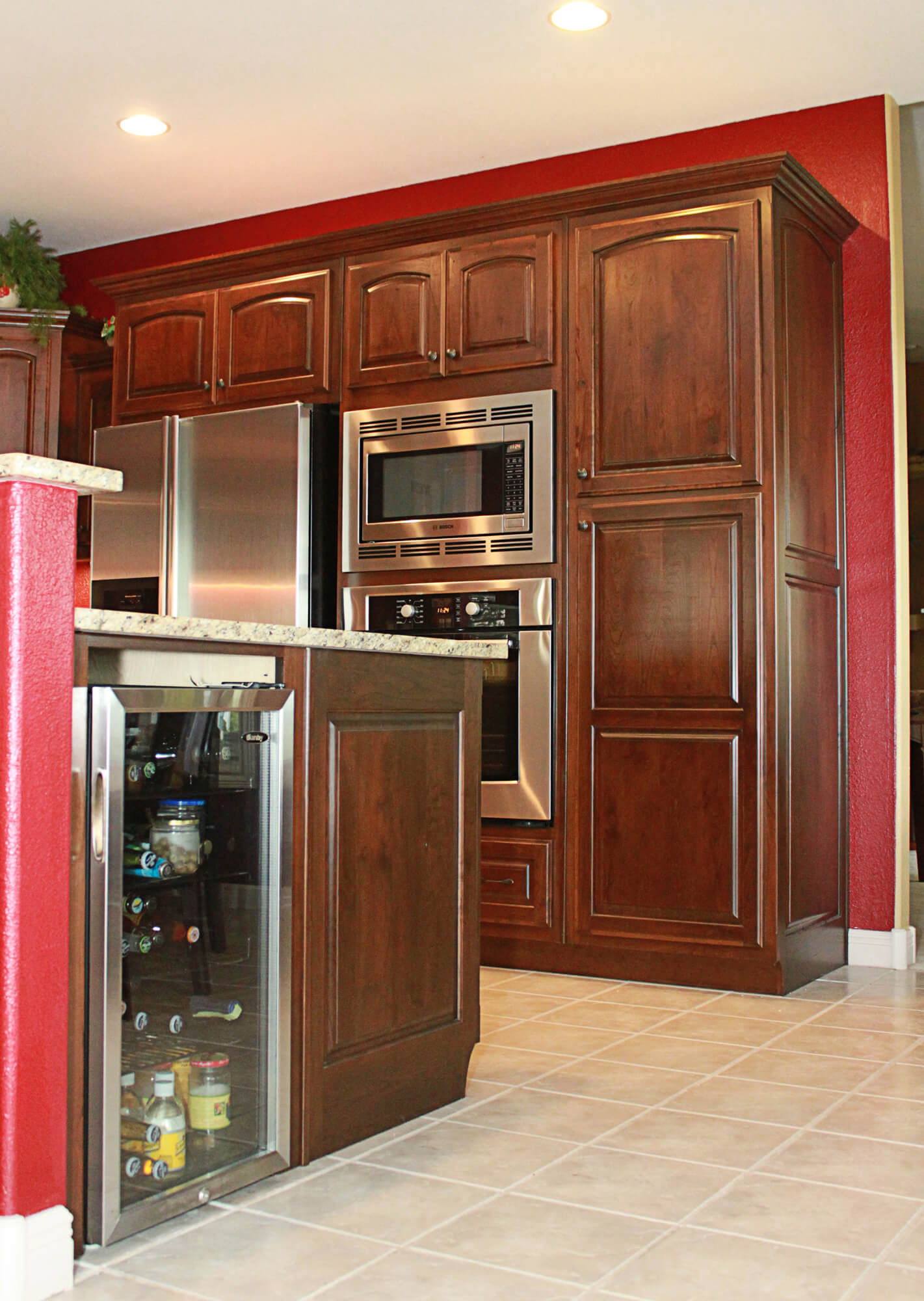 the cabinets plus | rustic cherry kitchen cabinets