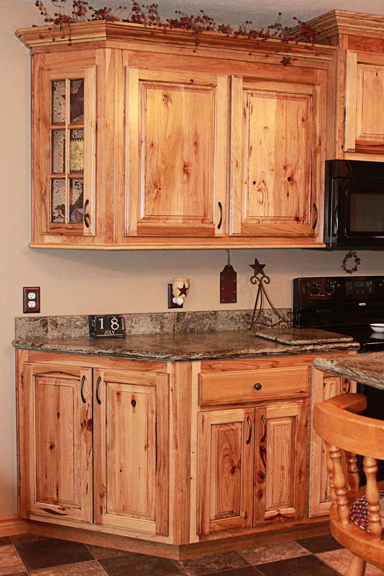 The cabinets plus rustic hickory kitchen cabinets for Hickory kitchen cabinets