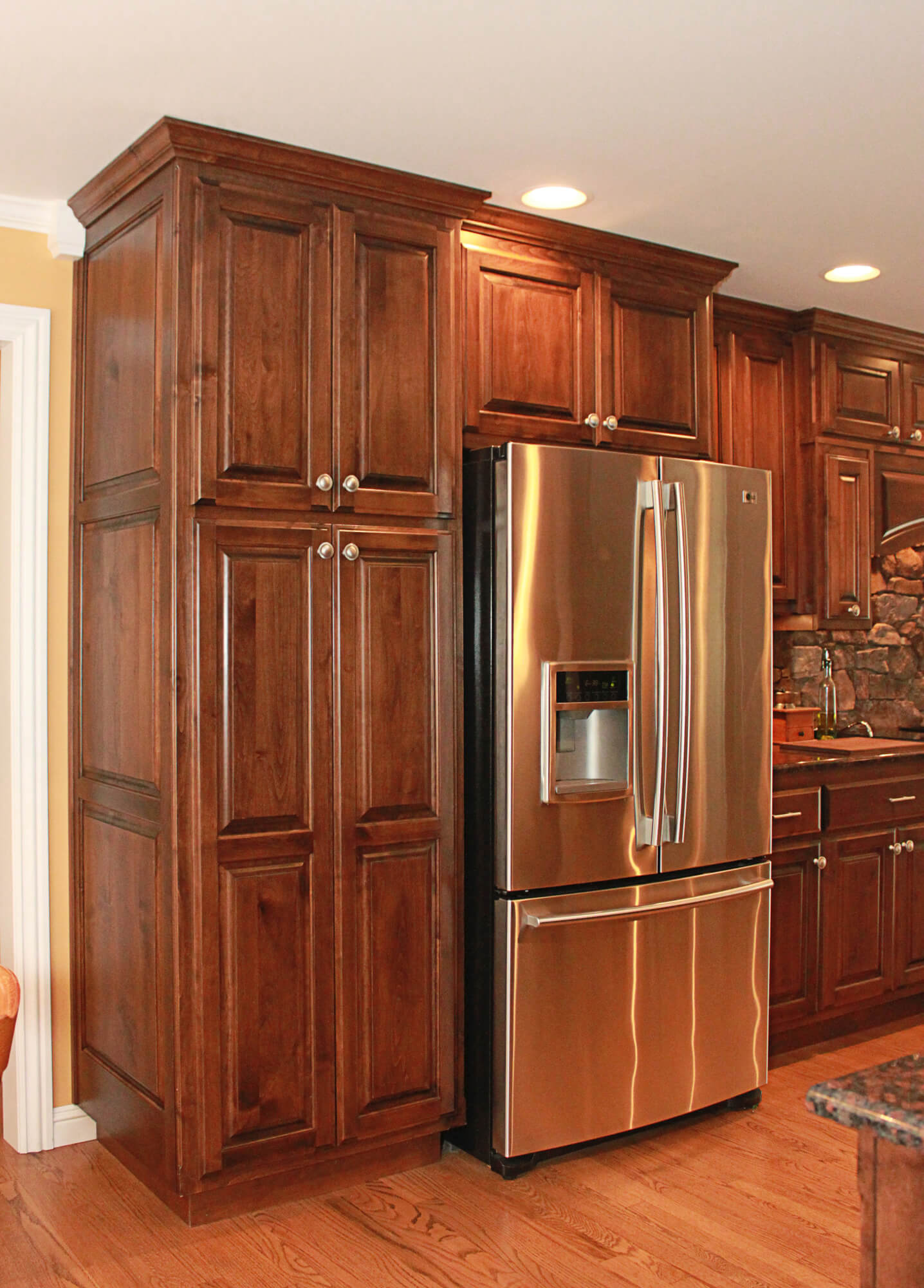 The cabinets plus clear alder kitchen cabinets for 4 kitchen cabinet