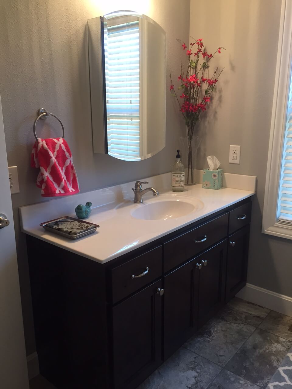 The Cabinets Plus Knotty Alder Bathroom